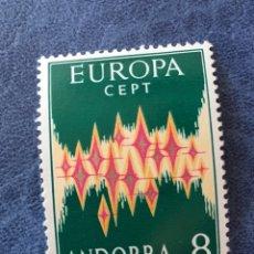 Sellos: ANDORRA ESPAÑA EUROPA CEPT 1972 NUEVO PERFECTO EDIFIL 72 LEVE FALTA DE DIENTE. Lote 163971145