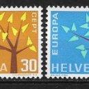 Sellos: SUIZA 1962 ** NUEVO EUROPA CEPT - 5/20. Lote 164794118