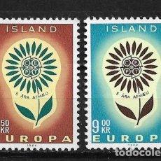 Sellos: ISLANDIA 1964 ** NUEVO EUROPA CEPT - 5/20. Lote 164797142