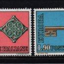 Sellos: ITALIA 1010/11** - AÑO 1968 - EUROPA. Lote 165072266