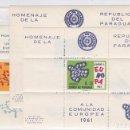 Sellos: PARAGUAY.- TRES HOJAS BLOQUE HOMENAJE A EUROPA 1961 NUEVOS SIN CHARNELA. . Lote 165078370