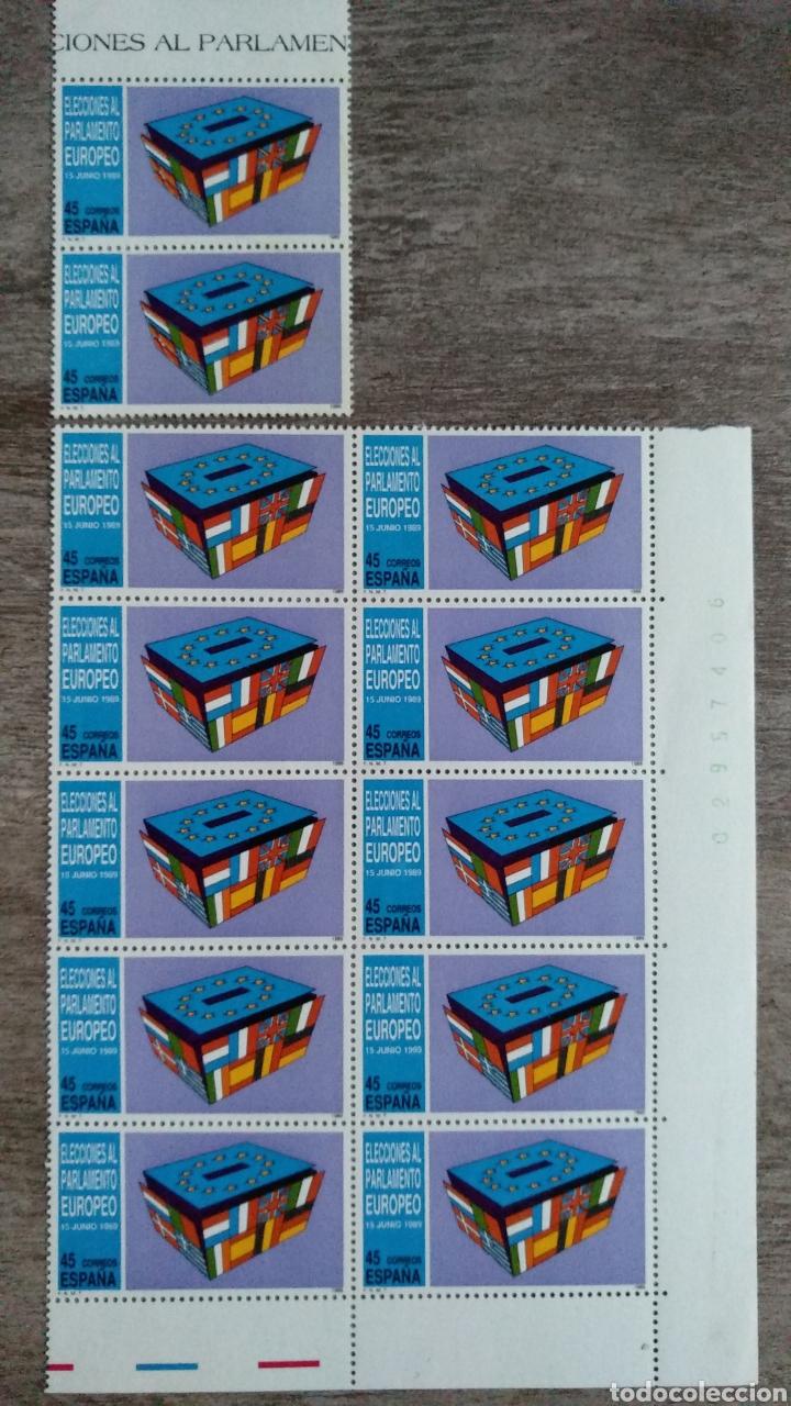 12 SELLOS 45 PTS.DE LAS ELECCIONES AL PARLAMENTO EUROPEO. 15 JUNIO 1989 (Sellos - Temáticas - Europa Cept)