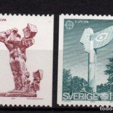 Sellos: SUECIA 831/32** - AÑO 1974 - EUROPA - ESCULTURA. Lote 171335587