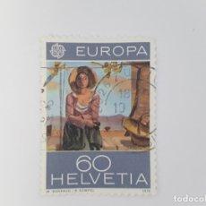 Francobolli: SUIZA TEMA EUROPA SELLO USADO. Lote 173411547