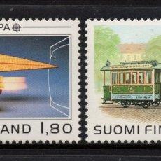 Sellos: FINLANDIA 1015/16** - AÑO 1988 - EUROPA - TRANSPORTES Y COMUNICACIONES. Lote 174243980