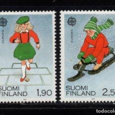 Sellos: FINLANDIA 1042/43** - AÑO 1989 - EUROPA - JUEGOS INFANTILES. Lote 174244094