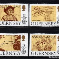 Sellos: GUERNSEY 560/63** - AÑO 1992 - EUROPA - 5º CENTENARIO DEL DESCUBRIMIENTO DE AMERICA. Lote 176354957