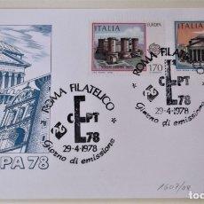 Francobolli: ITALIA. 1339/40 MONUMENTOS. 1978. MATASELLO PRIMER DÍA. Lote 176717023