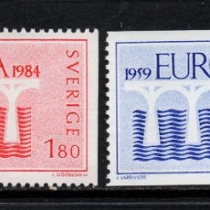 Sellos: SUECIA 1252/53** - AÑO 1984 - EUROPA. Lote 176838729