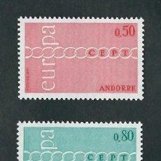 Sellos: SELLOS ANDORRE / ANDORRA FRANCESA 1971 Y&T 212/13** EUROPA CEPT NUEVOS. Lote 177838497