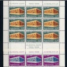 Sellos: YUGOSLAVIA 1969 Y&T 1252/53** EUROPA CEPT. Lote 178619375