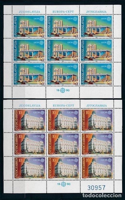 YUGOSLAVIA 1990 Y&T 2283/84** EUROPA CEPT (Sellos - Temáticas - Europa Cept)