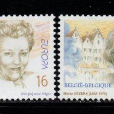 Sellos: BELGICA 2637/38** - AÑO 1996 - EUROPA - MUJERES CÉLEBRES. Lote 178793720