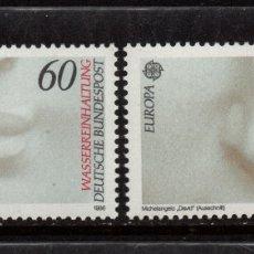 Sellos: ALEMANIA 1110/11** - AÑO 1986 - EUROPA - PROTECCION DE LA NATURALEZA Y DEL MEDIO AMBIENTE. Lote 178964208