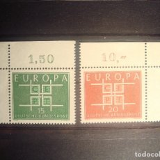 Sellos: EUROPA CEPT 1963 ALEMANIA SET CON BORDE DE HOJA **. Lote 179148585