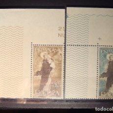 Sellos: EUROPA CEPT ESPAÑA 1963 SET CON BORDE DE HOJA **. Lote 179149377