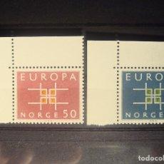 Sellos: EUROPA CEPT 1963 NORUEGA SET CON BORDE DE HOJA **. Lote 179163615