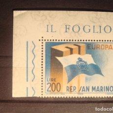 Sellos: EUROPA CEPT 1963 SAN MARINO SET CON BORDE DE HOJA **. Lote 179163725
