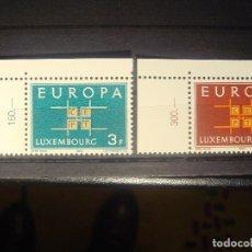 Sellos: EUROPA CEPT 1963 LUXEMBURGO SET CON BORDE DE HOJA**. Lote 179165287