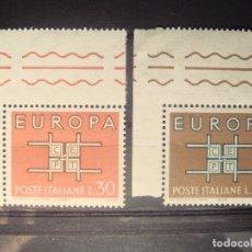 Sellos: EUROPA CEPT 1963 ITALIA SET CON BORDE DE HOJA**. Lote 179165377