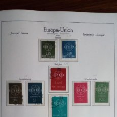 Sellos: COLECCIÓN TEMA EUROPA USADO 1956 - 1962 EXCELENTE CALIDAD CAT 153 EUROS. Lote 180456531