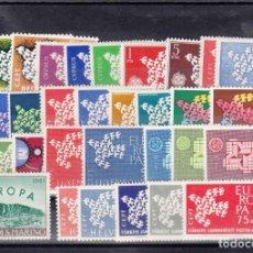 Sellos: EUROPA 1961 - AÑO COMPLETO NUEVO SIN FIJASELLOS - 34 SELLOS---PUEDE SOLICITAR LOS SELLOS QUE LE FALT. Lote 181754538