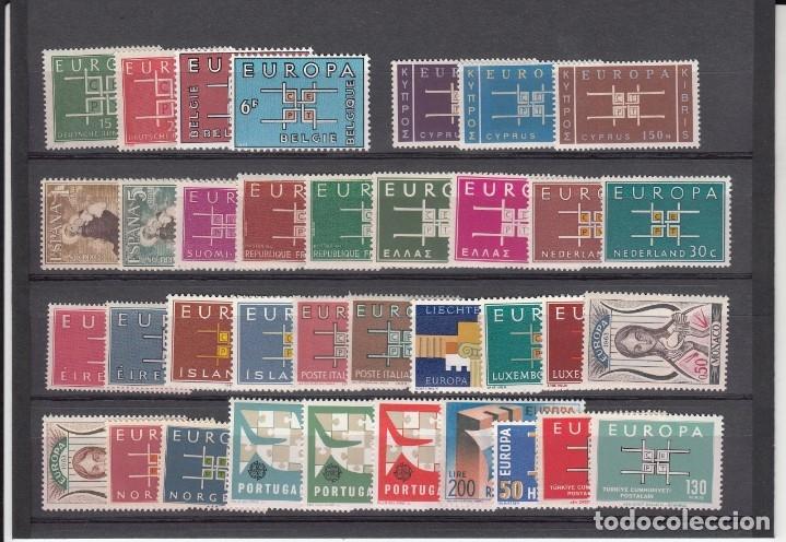EUROPA 1963 - AÑO COMPLETO NUEVO SIN FIJASELLOS - 36 SELLOS---PUEDE SOLICITAR LOS SELLOS QUE LE FALT (Sellos - Temáticas - Europa Cept)