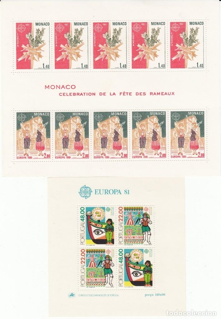 Sellos: EUROPA 1981 - NUEVO SIN FIJASELLOS 69 SELLOS + 4 HB -PUEDE SOLICITAR LOS SELLOS QUE LE FALTEN - Foto 3 - 182199145