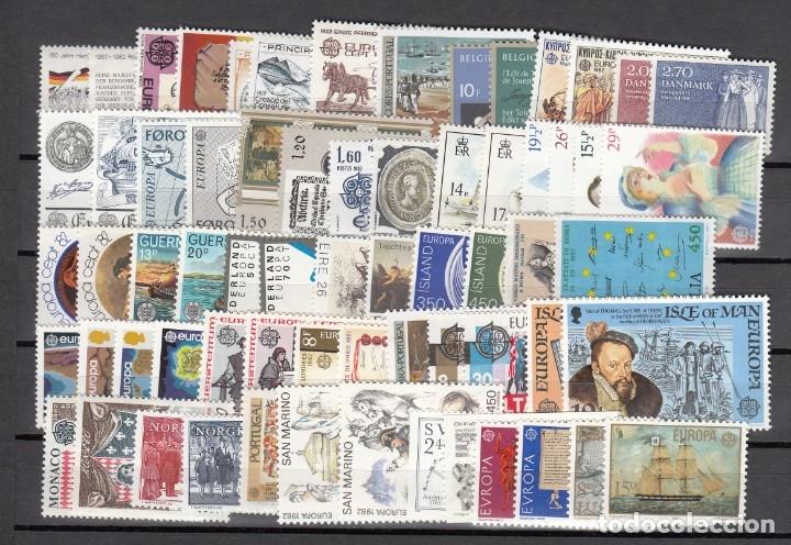 Sellos: EUROPA 1982 - NUEVO SIN FIJASELLOS 66 SELLOS + 6 HB -PUEDE SOLICITAR LOS SELLOS QUE LE FALTEN - Foto 2 - 182199667