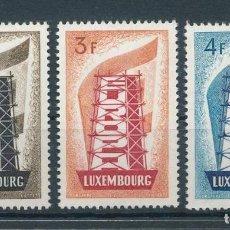 Timbres: LUXEMBURGO SERIE CLAVE EUROPA CEPT 1956 YVERT 514 - 516, MNH , LUJO, ALTO VALOR CATÁLOGO. Lote 186270402