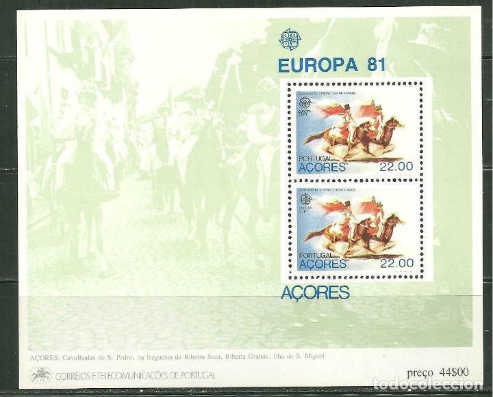 AZORES 1981 HB IVERT 2 *** EUROPA - FOLCLORE - FIESTAS POPULARES (Sellos - Temáticas - Europa Cept)