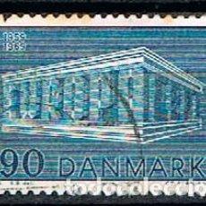 Sellos: DINAMARCA IVERRT Nº 490, EUROPAS 1969, USADO. Lote 190595228