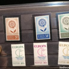 Sellos: SELLOS CHIPRE NUEVOS EUROPA 1964 YVERT 232/4 CATÁLOGO 75€. Lote 191423780