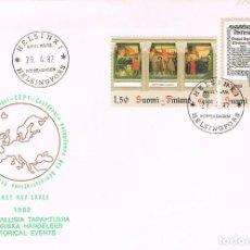 Sellos: FINLANDIA IVERT Nº 865/6, ACONTECIMIENTOS HISTORICOS PRIMER LIBRO EN FINLANDES, PRIMER DIA 29-4-1982. Lote 192163118