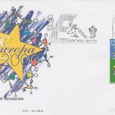 Sellos: EDIFIL Nº 3707, EUROPA 2000, PRIMER DIA DE 9-5-2000. Lote 192363675