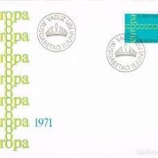 Sellos: LIECHTENSTEIN IVERT Nº 497, EUROPA 1971, PRIMER DIA DE 11-6-1971. Lote 195484372