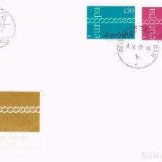 Sellos: YUGOESLAVIA IVERT Nº 1301/2, EUROPA 1971, PRIMER DIA DE 4-5-1971. Lote 195484706