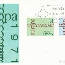 Sellos: EDIFIL 2031/2, EUROPA 1971, PRIMER DIA DE 29-4-1971 SOBRE DE ALFIL. Lote 195485565
