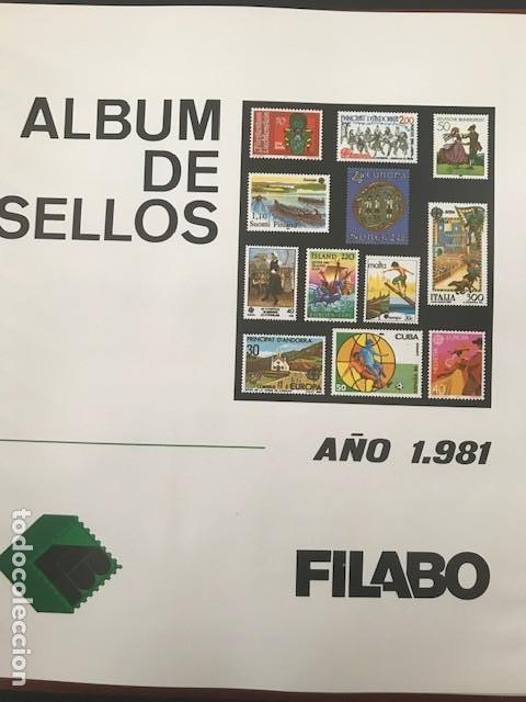 EUROPA CEPT AÑO 1981 MONTADO EN HOJAS FILABO VER IMAGENES (Sellos - Temáticas - Europa Cept)