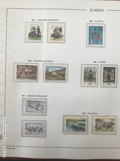 Sellos: Europa CEPT año 1981 montado en hojas Filabo Ver imagenes - Foto 3 - 197559921