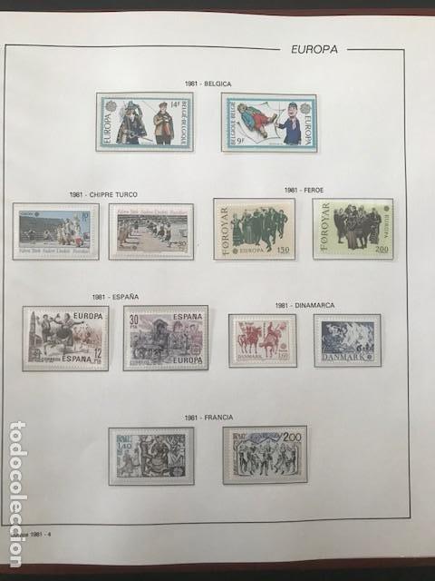 Sellos: Europa CEPT año 1981 montado en hojas Filabo Ver imagenes - Foto 6 - 197559921