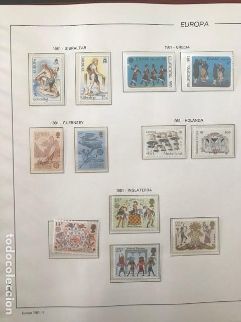 Sellos: Europa CEPT año 1981 montado en hojas Filabo Ver imagenes - Foto 7 - 197559921