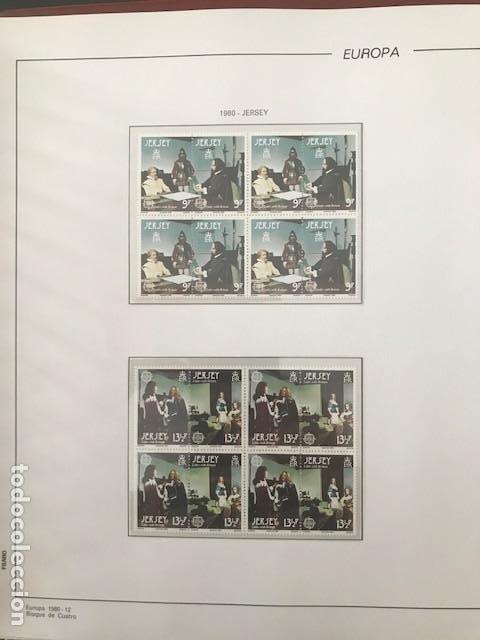 EUROPA CEPT AÑO 1980 EN BLOQUE DE 4 MONTADO EN HOJAS FILABO VER IMAGENES (Sellos - Temáticas - Europa Cept)