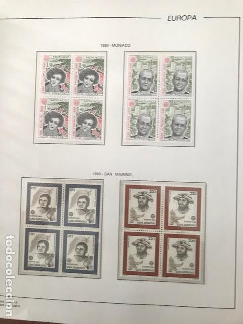 Sellos: Europa CEPT año 1980 en bloque de 4 montado en hojas Filabo Ver imagenes - Foto 3 - 197560348
