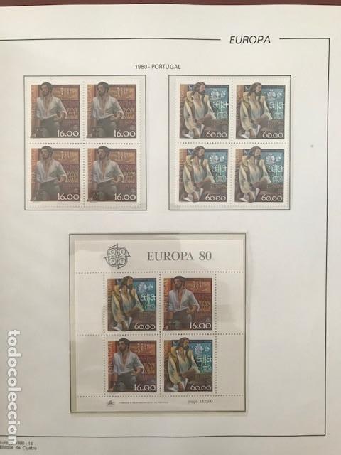 Sellos: Europa CEPT año 1980 en bloque de 4 montado en hojas Filabo Ver imagenes - Foto 5 - 197560348