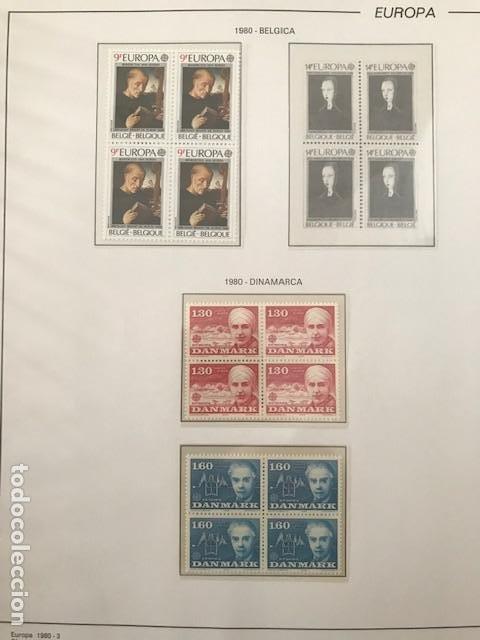 Sellos: Europa CEPT año 1980 en bloque de 4 montado en hojas Filabo Ver imagenes - Foto 11 - 197560348
