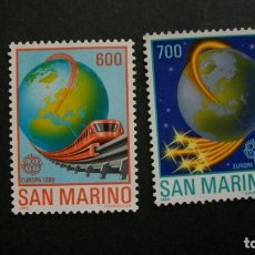 Timbres: /20-03/-SAN MARINO-1988-Y&T 1179/80 SERIE COMPLETA EN NUEVO(**MNH). Lote 197723772