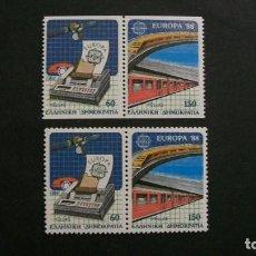 Sellos: /20-03/-GRECIA-1988-Y&T 1665/8 SERIE COMPLETA EN NUEVO(**MNH). Lote 197725345