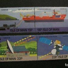 Timbres: /20-03/-ISLA DE MAN-1988-Y&T 367/70 SERIE COMPLETA EN NUEVO(**MNH). Lote 197726963