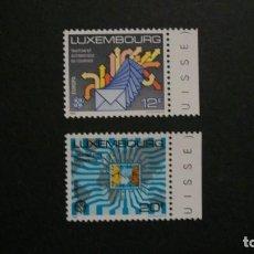Timbres: /21-03/-LUXEMBURGO-1988-Y&T 1149/50 EN NUEVO SIN FIJASELLOS(**MNH). Lote 197797688